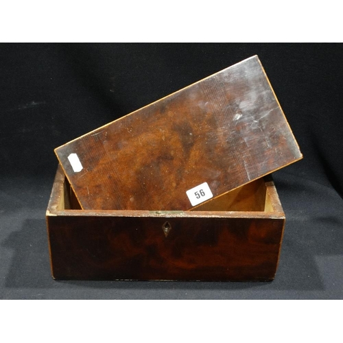 56 - A Mid 19th Century Mahogany Tea Caddy (Lid Loose)