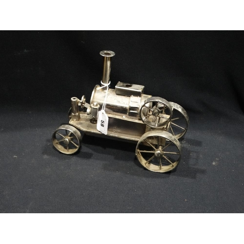 58 - A Contemporary Steel Model Of A Steam Engine
