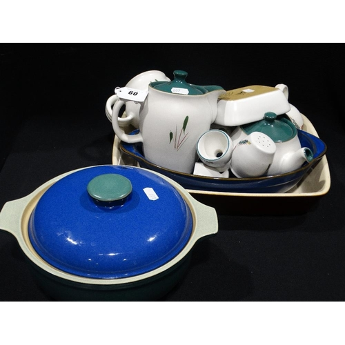 60 - A Quantity Of Denby Greenwheat & Other Kitchen Ware