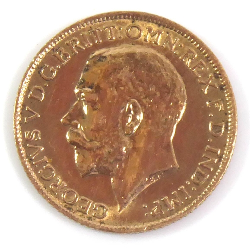 2 - A WWI PERIOD 22CT GOLD FULL SOVEREIGN COIN, DATED 1914  Bearing portrait of King George V and George...