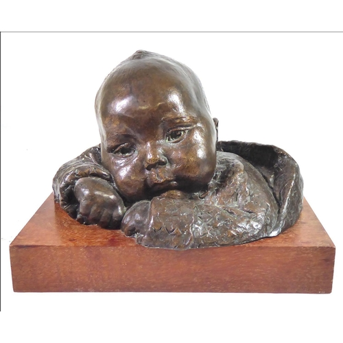 520 - BARBARA TRIBE, F.R.B.S., 1913 - 2000, BRONZE (1/12) Titled 'Paul', signed, numbered and studio label...