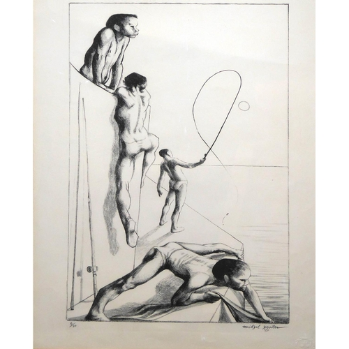 548 - MICHAEL AYRTON, 1921 - 1975, LITOGRAPH (5/10) Titled 'Fishermen', signed, numbered, studio stamped, ...