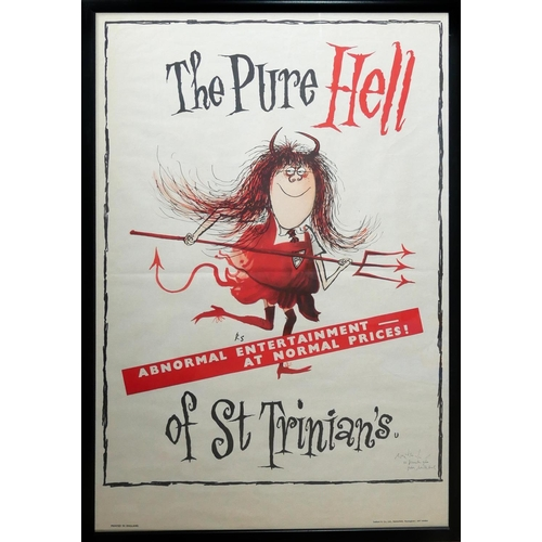 44 - 'THE PURE HELL OF ST. TRINIANS', ORIGINAL CINEMA POSTER Signed with inscription 'Ronald Searle, 22nd...