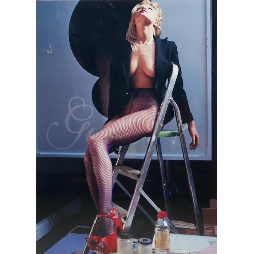 55 - AMANDA ELIASCH, ORIGINAL COLOUR PHOTOGRAPH, 1/15 Semiclad female, bearing label verso 'Model: Clara,...