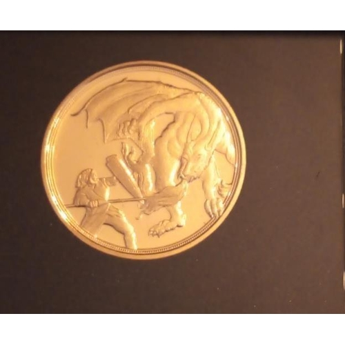 25 - A 22CT GOLD FULL SOVEREIGN 'THE DRAGON ATTACKS' PROOF COIN, DATED 2020 In a protective capsule and f...