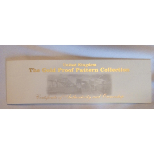 34 - A 22CT GOLD FOUR COIN PROOF SET, DATED 2003, THE GOLD PROOF PATTERN COLLECTION  In a protective caps...