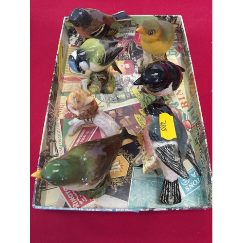 9 - 6 VARIOUS BESWICK BIRDS AND GOEBEL OWL...