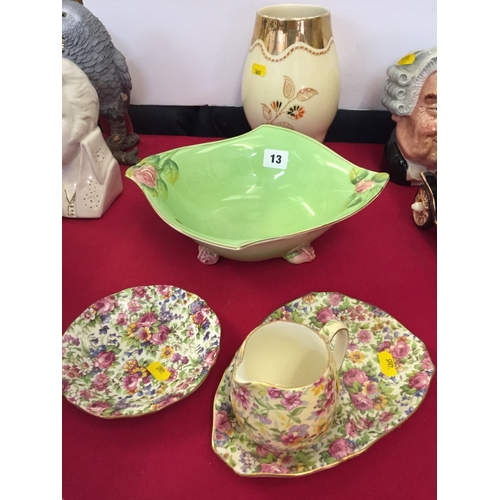 13 - 5 VARIOUS PIECES OF ROYAL WINTON CHINA...