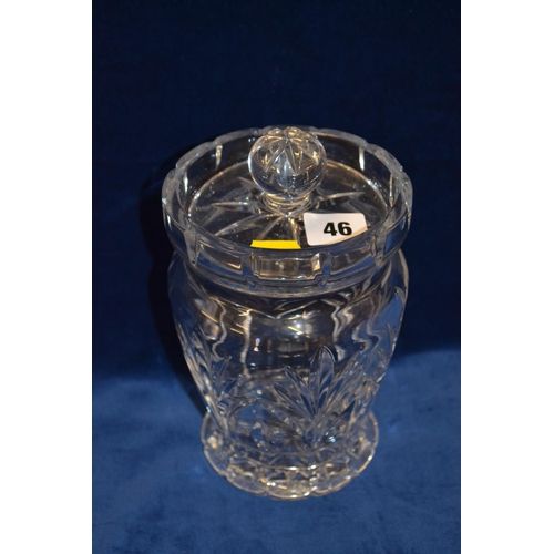 46 - WATERFORD CRYSTAL CUT GLASS BISCUIT BARREL...