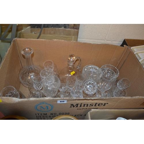 60 - LARGE QUANTITY OF CUT GLASSWARE...
