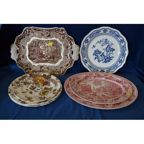 34 - QUANTITY OF MASON'S AND OTHER DECORATIVE PLATES...