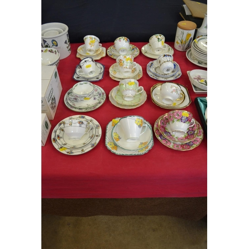 20 - 12 VARIOUS BONE CHINA TRIOS...