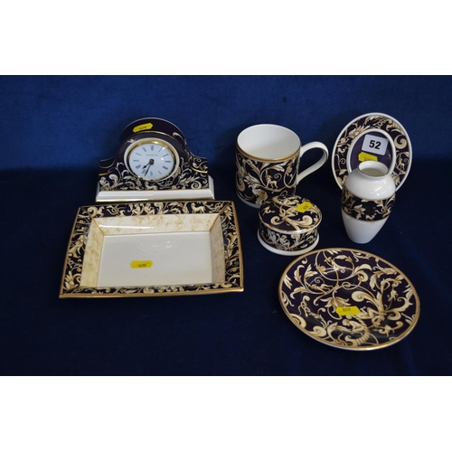 52 - 8 PIECES WEDGWOOD BICENTENARY CELEBRATION CORNUCOPIA WARE...