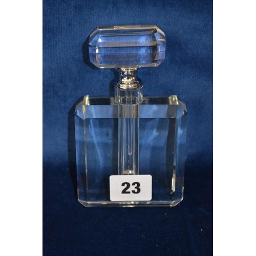 23 - ART DECO STYLE CUT GLASS SCENT BOTTLE...