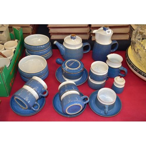 27 - STONEWARE COFFEE AND TEA SERVICE (26 PIECES)...