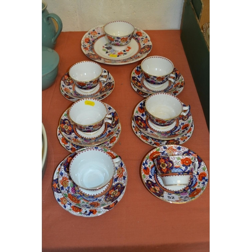 52 - BOOTHS IMARI PATTERN PART TEA SERVICE (19 PIECES)...