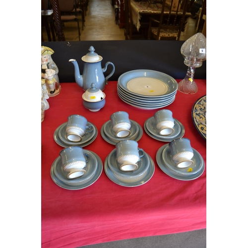 6 - STONEWARE DINNER AND TEA WARE (28 PIECES)...