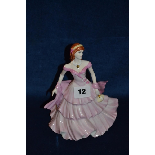 12 - COALPORT BONE CHINE FIGURINE