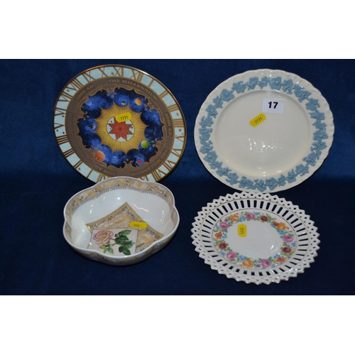 17 - ROYAL WORCESTER MILLENIUM PLATE, WEDGWOOD QUEENS WARE TEA PLATE, ROYAL WORCESTER COUNTRY GARDEN BOWL...