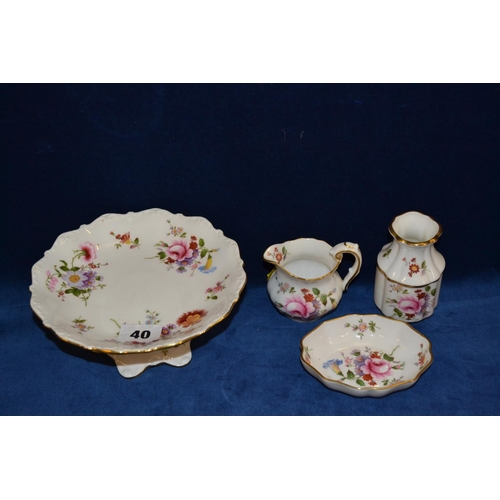 40 - FOUR PIECES OF ROYAL CROWN DERBY