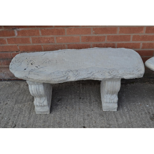 669 - LOG EFFECT GARDEN BENCH ON SHAPED SUPPORTS