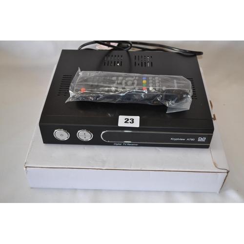 23 - EVLUTION A750 SATELLITE DIGITAL TV RECEIVER