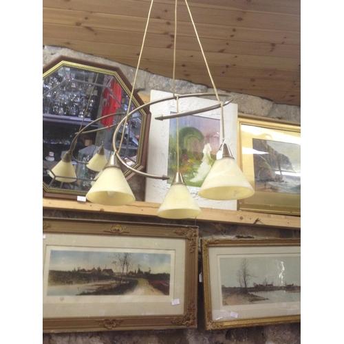 10 - 3 Branch hanging light fixture...