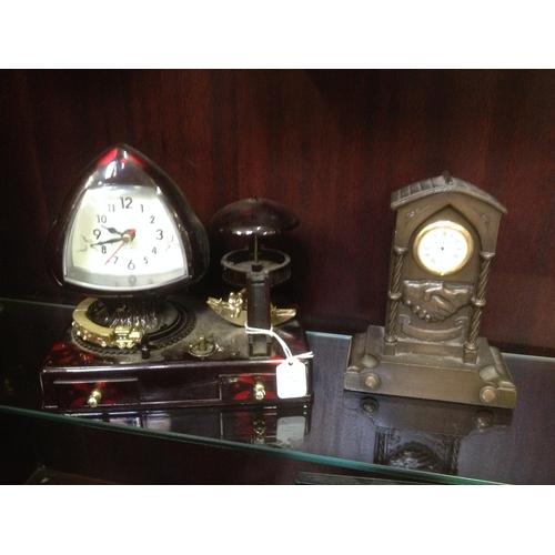 11 - Musical clock/ jewellery box clock PWO...