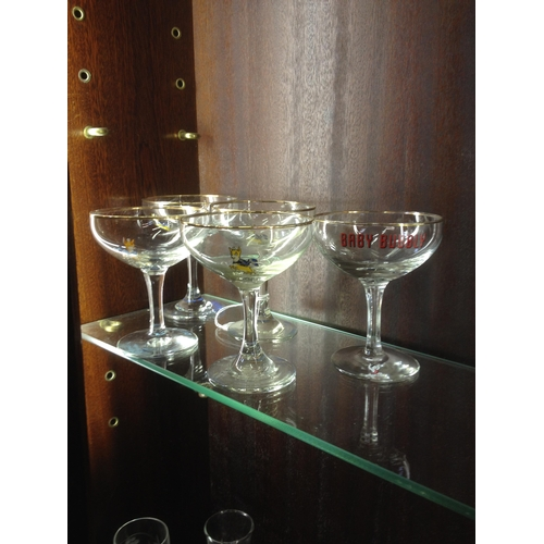28 - 5 Babycham glasses plus 1 baby bubble (6 total)...