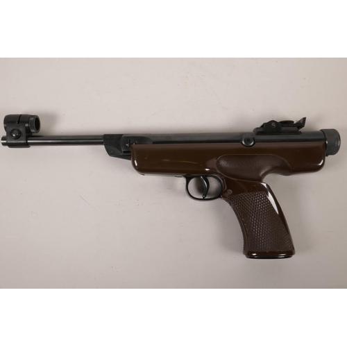 11 - A German Diana no.6 air pistol, .177 calibre, 16