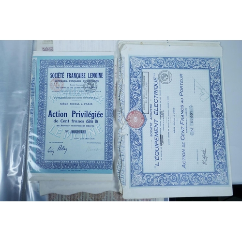 50 - A collection of all World share certificates...