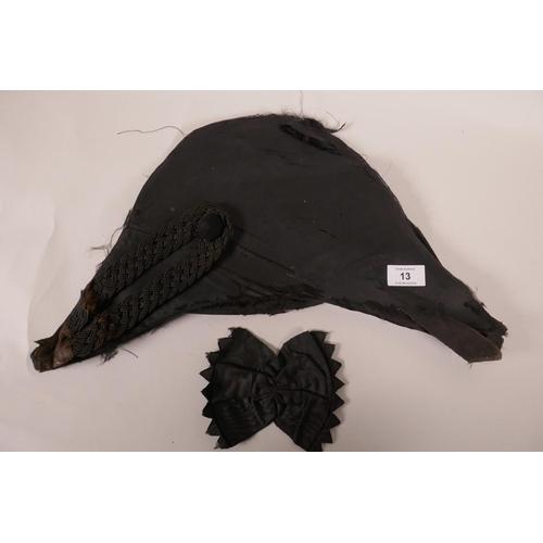 13 - An early C19th British Royal Navy Bicorn (hat), A/F, 19