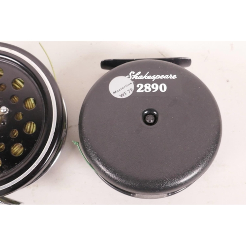 54 - A Shakespeare 2890 fly fishing reel, 3½