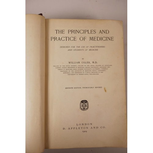 26 - Of medical interest: William Osler (1849-1919), 'The Principles and Practice of medicine', seventh e...