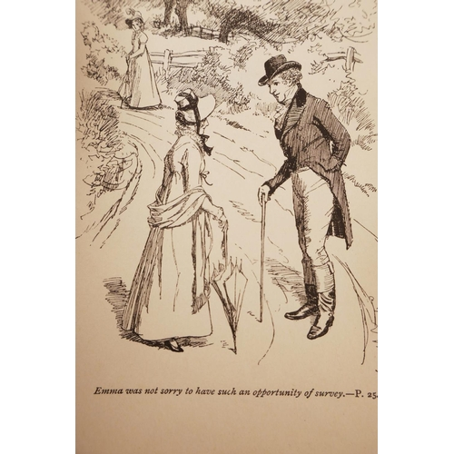 30 - Of Jane Austen interest: Two volumes of the Peacock Edition of Jane Austen, (1775-1817), 'Northanger...