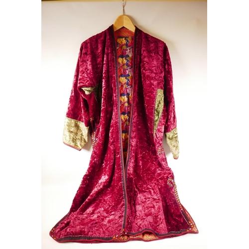 32 - A vintage velvet smoker's jacket...