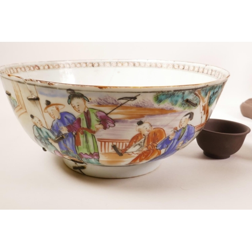 57 - A C19th Chinese famille rose porcelain bowl, 8