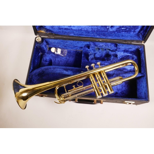 11 - A B&M Champion brass trumpet, in a fitted case, 20