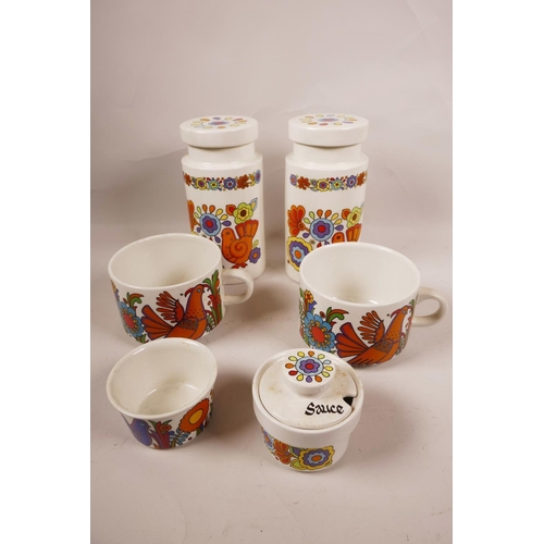 41 - A collection of Villeroy & Boch 'Acapulco' and Lord Nelson pottery 'Gaytime' co-ordinating colourful...