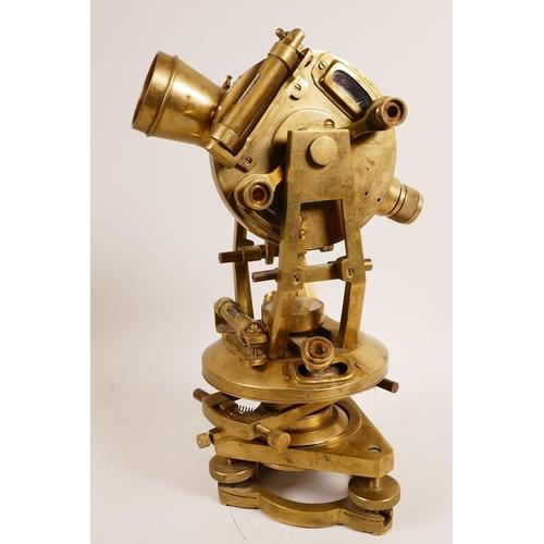 34 - A brass theodolite, A/F, 12