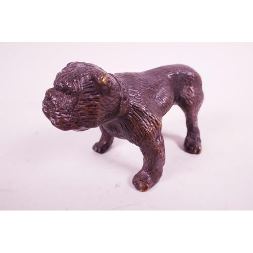 37 - A bronze stylised bulldog, 3½