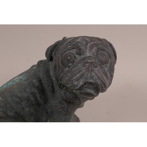 41 - A bronze pug, 5