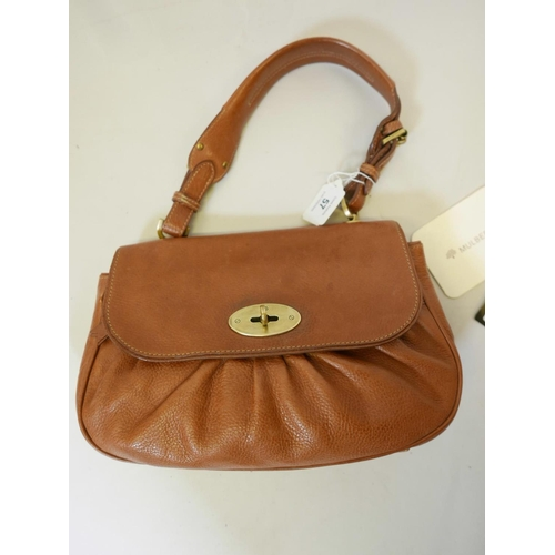 57 - A Mulberry 'Joelle' oak coloured leather shoulder bag, with original purchase receipt...