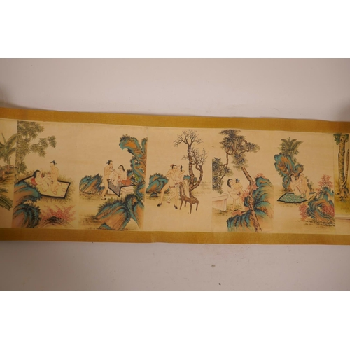 13 - A Chinese printed scroll depicting erotic scenes, 81