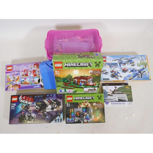 41 - A collection of boxed sets and loose Lego, to include Minecraft, Lego Movie, Friends, Creator etc, w...