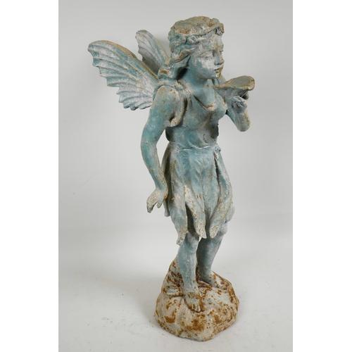 4 - A cast iron 'fairy' garden ornament, 21