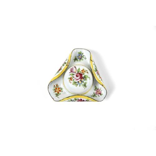 4 - French Enamel Hat Shaped Patch Box - A pretty French enamel tricorn hat shaped patch box<br><br><a h...