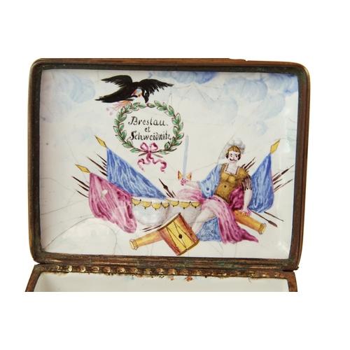 1 - Frederick The Great Battle Box  - A German Enamel Frederick The Great Battle snuff box depicting the...