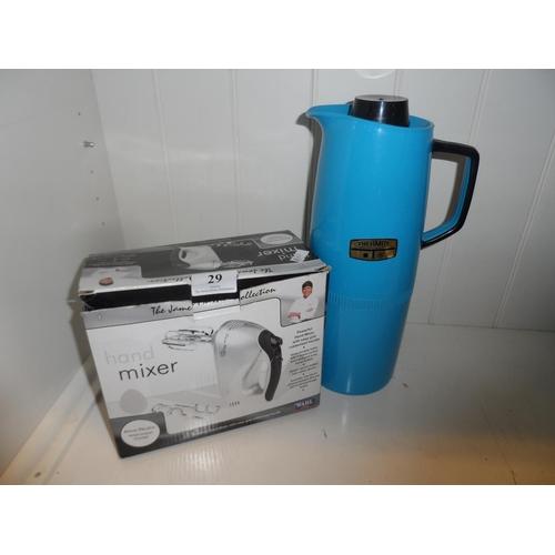 29 - Hand mixer plus flask...
