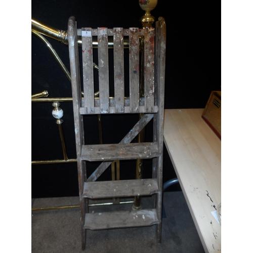 3 - Wooden step ladder...